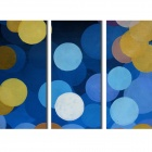 Iarts DX0109-09 Handmade Abstract Oil Painting Group - Multicolored (3 PCS)