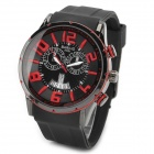 BARIHO H051 Zinc Alloy Casing PU Wristband Sport Quartz Watch for Men - Red