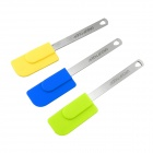 GROUP TIGER HD004F DIY Silicone Cake Spatula Cake Tool Mold - Yellow + Blue + Green (3 PCS)