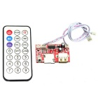 Jtron Lossless Music WAV + MP3 Decoder Board - Red + Silver (12V)