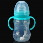 Bain treasure 7876 PP Feeding Bottle for Baby - Light Blue + Transparent (210ml)