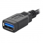 USB 3.0 Female to Micro USB 3.0 OTG Cable w/ Adapter - Black (20cm)