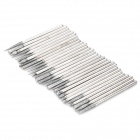 Navo Electroplated Diamond Grinding Heads - Silver (30 PCS)