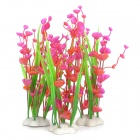 Aquarium Decorative Lifelike Artificial Water Plants - Red + Green (3 PCS)