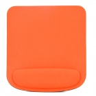 005 Square Shape Memory Foam Wrist Support Mouse Pad - Black + Orange