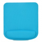 005 Square Shape Memory Foam Wrist Support Mouse Pad - Light Green + Black
