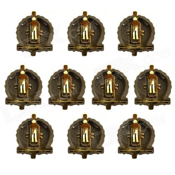Titulaire Jtron CR1220 Pile bouton / support SMD Batterie - Brown (10 PCS)