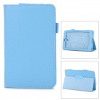 "Protective PU Leather Case w/ Stylus Holder for 7"" Dell Venue 7 - Sky Blue"