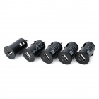 USB Car Charger Adaptadores Set - preto (12V / 5 PCS)