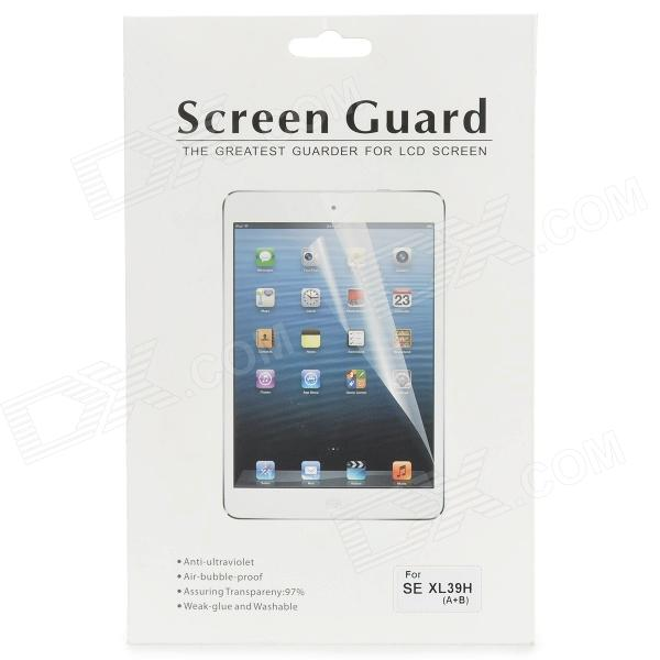 Protective Clear Front Screen Protector + Back Skin Film for Sony XL39h - Transparent