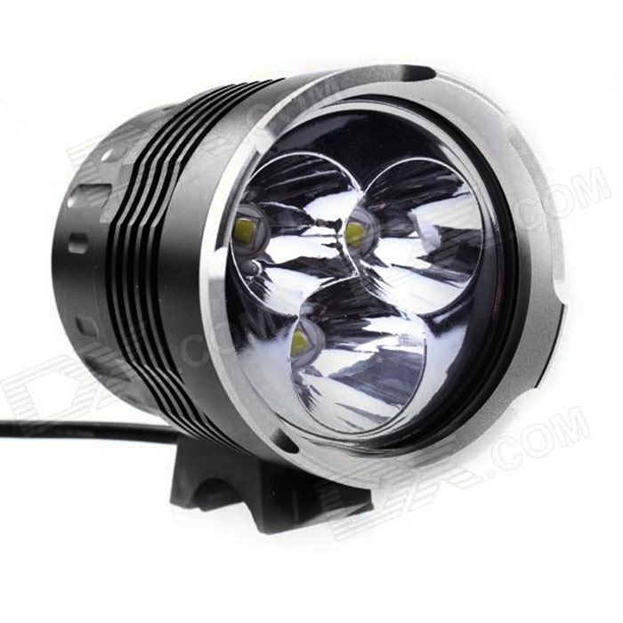 JN S6 3-LED 2400lm 4-Mode White Light Bicycle Light - Black (4 x 18650) new mf8 eitan s star icosaix radiolarian puzzle magic cube black and primary limited edition very challenging welcome to buy
