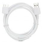 USB 3.0 to Micro USB 9-Pin Data/Charging Cable for Samsung Galaxy Note 3 N9000 - White