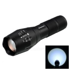 Stretch Zooming Cree XML-T6 900lm 3-Mode White Tactical Flashlight - Black (1 x 18650 or 3 x AAA)