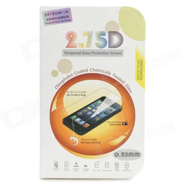 2.75D Protective 0.25mm Tempered Glass Screen Protector for Sony L39h - Transparent