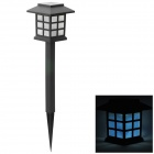 Solar Power 0.4W 65lm LED White Light Garden / Lawn Lamp - Black