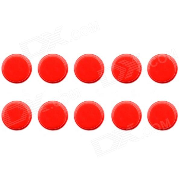 Jtron Tact Switch Round Cap - Red (10 PCS / 12 x 12mm)