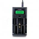 "Soshine 1.5"" LCD Universal Charger for Li-ion / LiFePO4 26650 18650 9V Ni-MH C AA AAA 9V - Black"