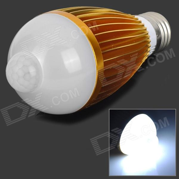 FengYang 014 PIR Infrared Motion Sensor E27 7W 240lm 6500K White Light Bulb (AC 85~265V)