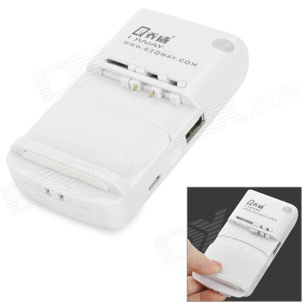 JOWAY 007 Chargeur universel w / sortie USB - Blanc (2 broches plates-Plug)
