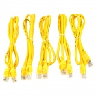 RJ45 Ethernet Internet Network Cable - Yellow (5 PCS)