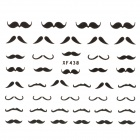 XF438 Stylish Mustache Pattern Plastic Nail Art Sticker - Black