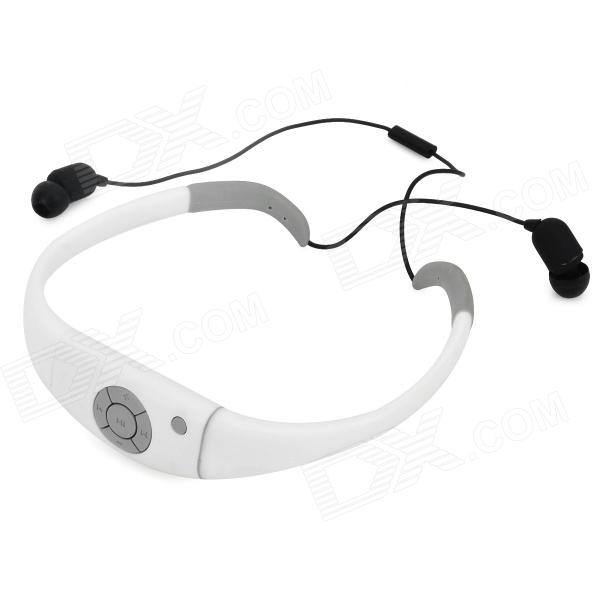 Outdoor Swimming Waterproof Stereo BluetoothV2.1 Headphone - White + Black