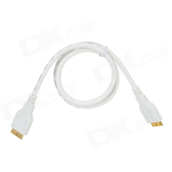 USB 3.0 Female to Micro USB 3.0 Male OTG Cable - White (50cm)
