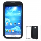 Protective Flip-Open PU Leather Case for Samsung Galaxy S4 / i9500 - Black + Transparent