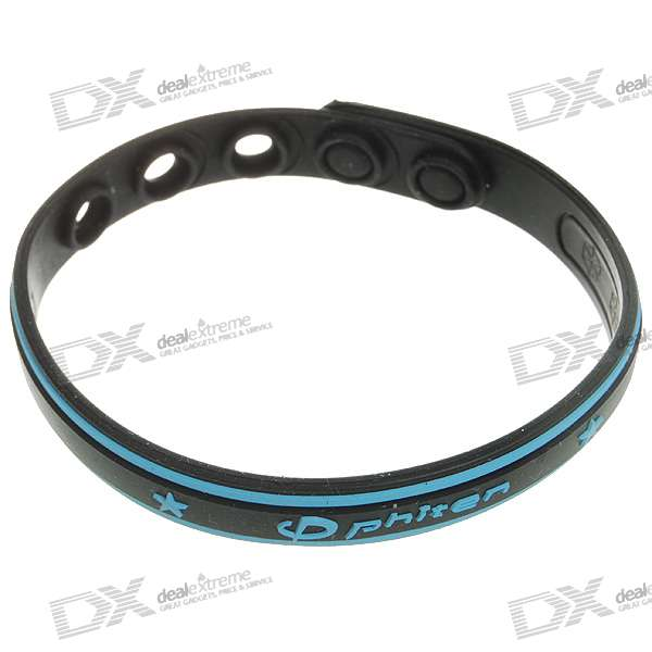 Titanium Pressure Reduction Magnetic Wrist Strap (Black + Blue)