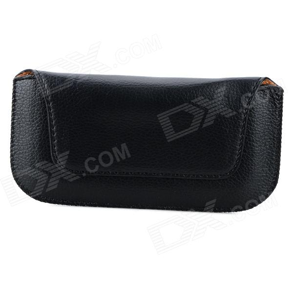 Universal PU Leather Belt Bag Waist Bag for IPHONE 4 / 4S / 5 / 5S / 5C / i9300 / i9220 - Black