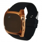 "RuiQ 1.5"" LCD Smartwatch Bluetooth V3.0 Watch Support Message Display, Answer Phone Calls - Golden"