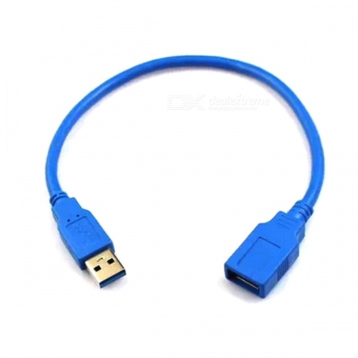 USB3.0 Male to Female Extension Data Cable - Blue (30 cm) rain