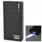 "IKKI Wallet Style ""20000mAh"" Power Bank w/ Flashlight for Samsung Note 10.1 N8000 / P600 - Black"