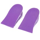 Double Layer Height Increasing Insoles - Purple + Red (2 PCS)