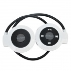Mini-503 Bluetooth V2.1 Stereo Headset w/ Microphone - White + Black