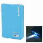 "YI-YI Wallet Style ""12000mAh"" Power Bank w/ LED Flashlight for Samsung Note 10.1 P600 / Tab 3 - Blue"