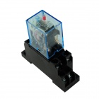 MY2N-J Mini Relay + Relay Block - Black (AC 220V)