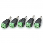 LSON DC Power Female Plug Connector Adapter - Black (5 PCS / 5.5x2.1mm)