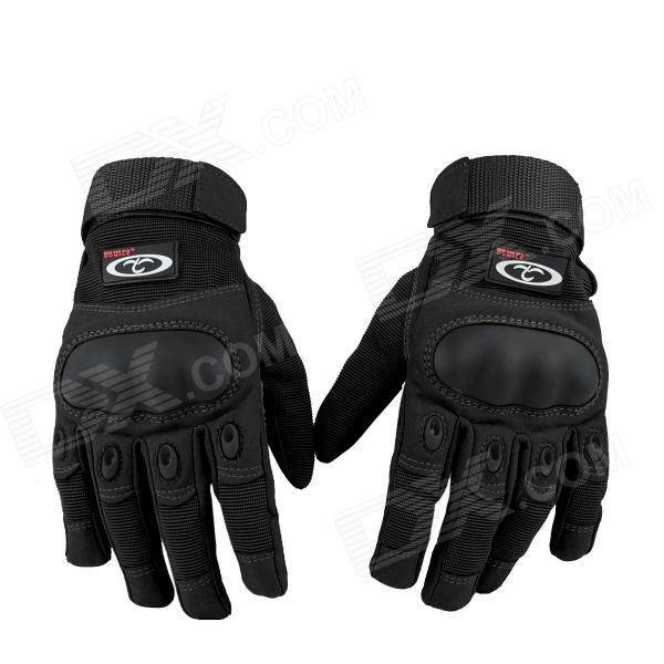 OUMILY Outdoor Tactical Full-finger Gloves - Black (Size XL / Pair) pro biker mcs 04 motorcycle racing half finger protective gloves red black size m pair