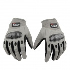 OUMILY Outdoor Tactical Full-finger Gloves-Gray + Black (Size XL / Pair)