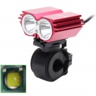 ZHISHUNJIA 360 Degree Rotating 2 x Cree XM-L T6 1600lm 4-Mode White Bicycle Headlight - Black