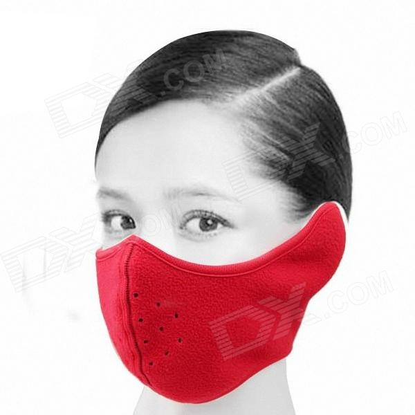 QNGLONIN ID-03 Fleece Ski Full Face Mask - Red security labour protective mask equipment bicyle masks against the warm full face mask pirates of the caribbean dust mask fc