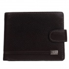 C.S.C AB2006KI Stylish Men's Head Layer Cowhide Purse Wallet - Deep Brown