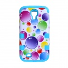 CM01 Bubble Pattern Protective Silicone Back Case for Samsung Galaxy S4 i9500 - Multicolored