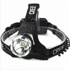 Cree XM-L T6 900lm 3-Mode Cold White Light Headlamp - Black (2 x 18650)