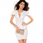 Slim Hip Prom Dress Elegant Women Dress - White