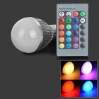 E27 5W 180lm RGB 5-LED Color Changing Bulb w/ Power Off Memory / Remote Controller (85~265V)