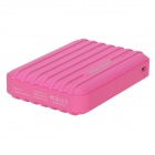"Water Element A10 ""10400mAh"" Dual USB Portable Power Source Bank w/ Flashlight - Deep Pink"