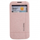 KALAIDENG Protective PU Leather Case Cover Stand for HUAWEI G730 - Golden