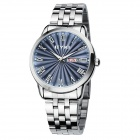 Classic Upscale Men's Business Casual Quartz Watches - Sapphire Blue + Silver